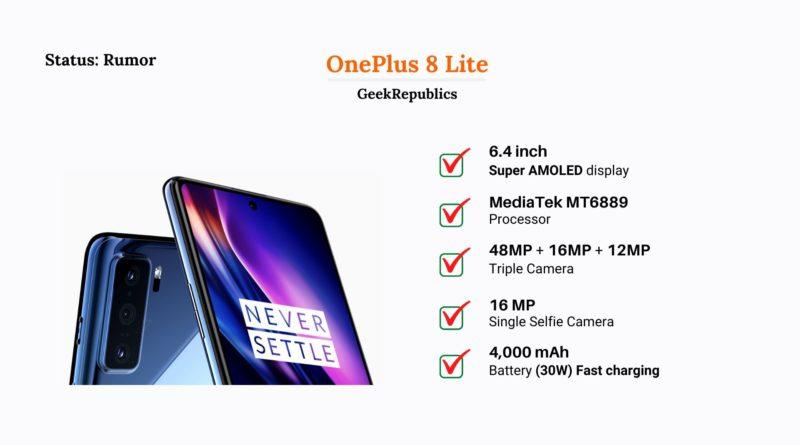 OnePlus 8 Lite Price in India
