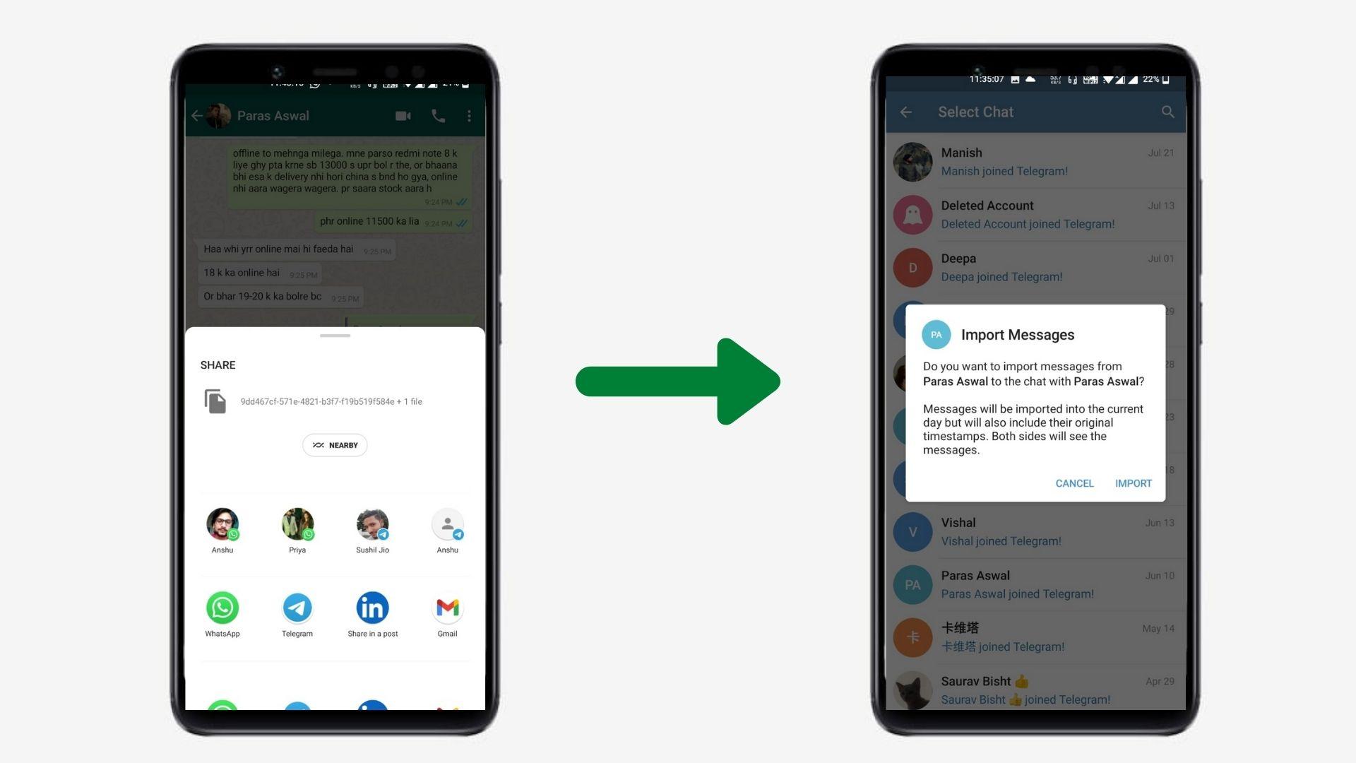 Import Chats from WhatsApp to Telegram